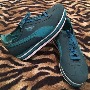 Puma Roma Green Shoes Size 10